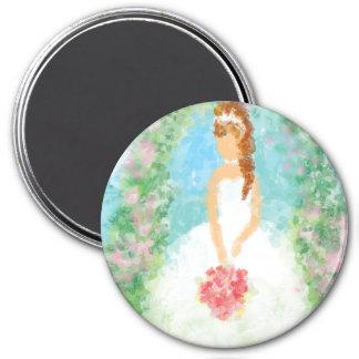 Garden Wedding Bride 7.5 Cm Round Magnet