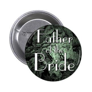 Garden Wedding Button: Father of the Bride