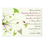 "Garden Weddings - Elegant save the date cards 5"" X 7"" Invitation Card"