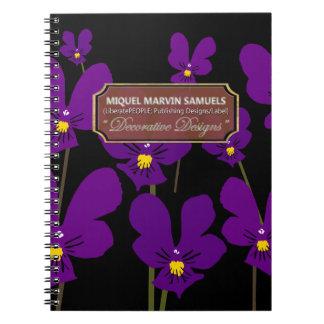 Garden Weeds Decorative Black Modern Notebook