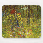 Garden with crucifix by Gustav Klimt Mouse Pad
