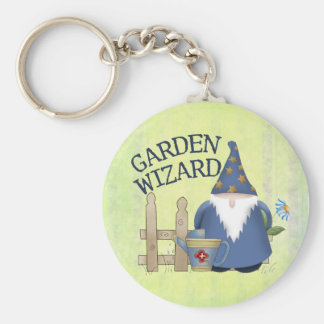 Garden Wizard Basic Round Button Key Ring