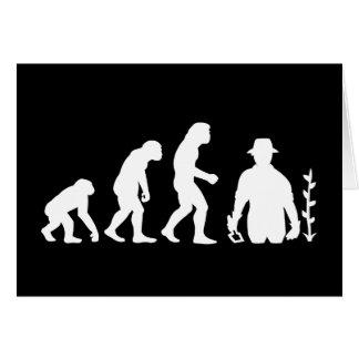 Gardener Evolution Greeting Card
