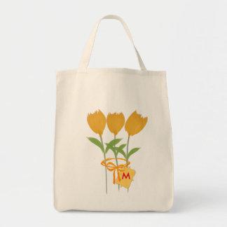 Gardener Florist Yellow Tulip Bouquet Tote Bag