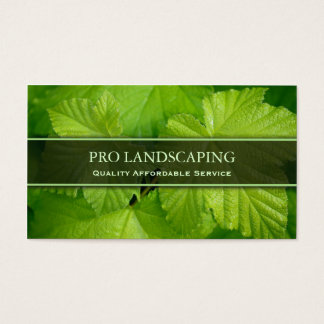 Gardener / Landscaping Leaf, Photo Business Card