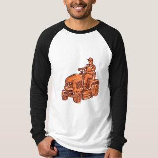 Gardener Ride-On Mower Etching Shirt