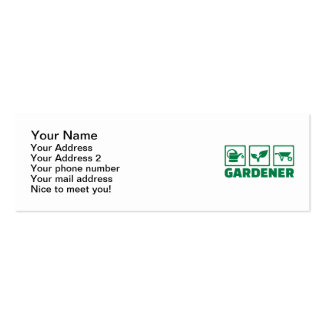 Gardener tools business card template