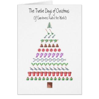 Gardener's 12 Days of Christmas Greeting Card