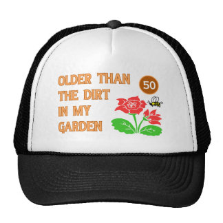 Gardener's 50th Birthday Cap