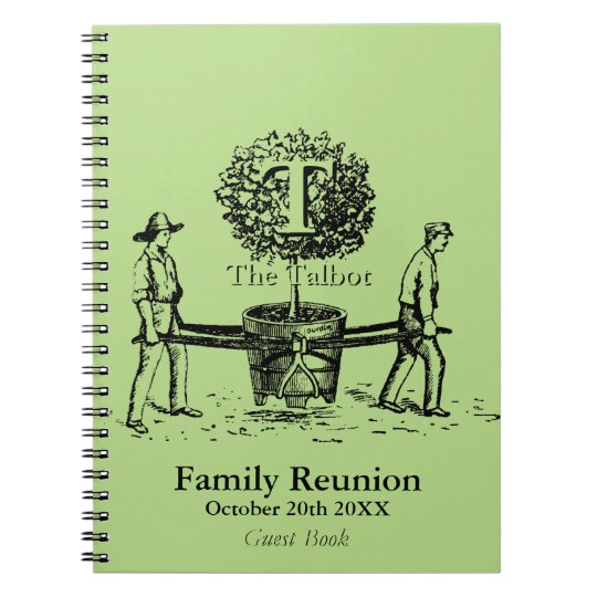 Gardeners Family Reunion Guest Book custom Name