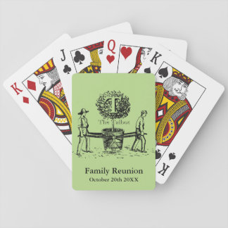 Gardeners Family Reunion Playing cards custom Name