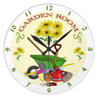 Gardener's Garden Room Clock Garden Tools