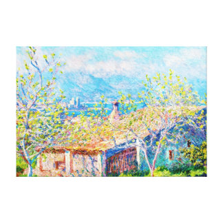 Gardener's House at Antibes Claude Monet Gallery Wrapped Canvas