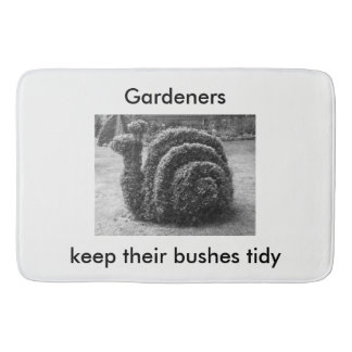 Gardeners keep their bushes tidy topiary bath mats