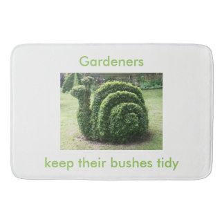 Gardeners keep their bushes tidy topiary shower bath mats