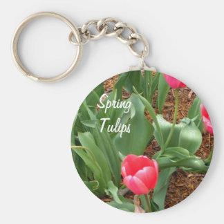 Gardeners Keychains Spring Tulips Pretty Pink Gift