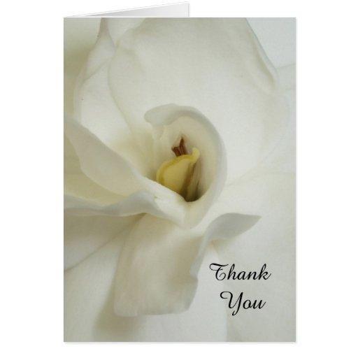 Gardenia Bereavement Sympathy Thank You Card