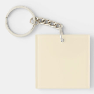 Gardenia Cream in an English Country Garden Double-Sided Square Acrylic Key Ring