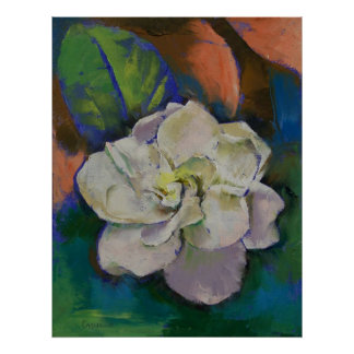Gardenia Flower Print