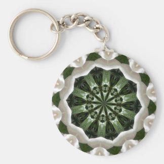 Gardenia Kaleidoscope Key Ring