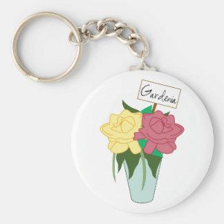 Gardenia Key Chain