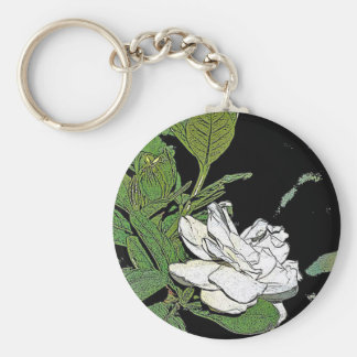 Gardenia Keychains