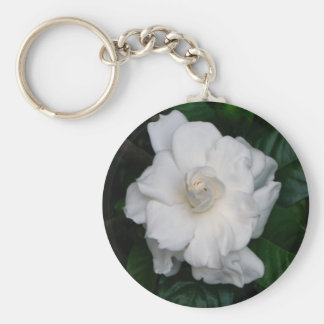 Gardenia Print Keyring Key Chain