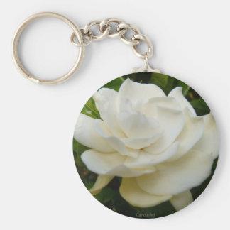 """""""Gardenia Pure"""" Basic Round Button Key Ring"""