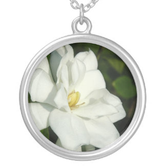 Gardenia Silver Necklace
