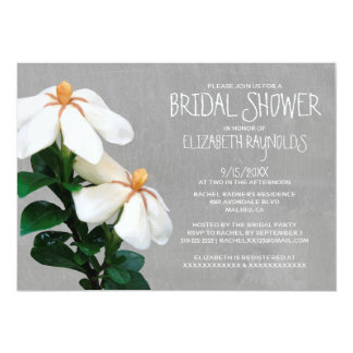 Gardenias Bridal Shower Invitations