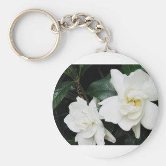 Gardenias Basic Round Button Key Ring
