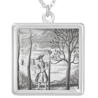 Gardening and Plant Maladies Silver Plated Necklace