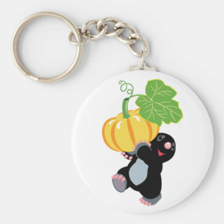 gardening basic round button key ring
