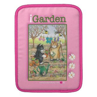 Gardening Cats Rickshaw Sleeve iPad Sleeve
