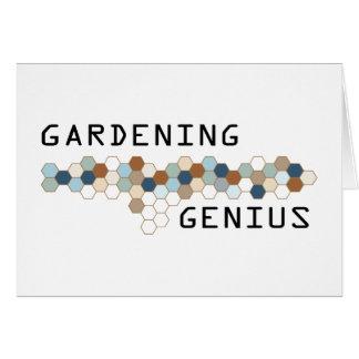 Gardening Genius Greeting Card