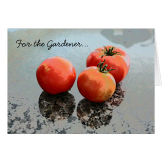 Gardening Greeting Card with Tomatoes