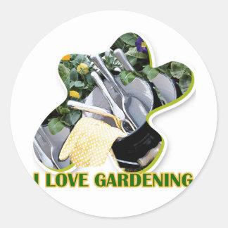 Gardening iGuide Flowers and Shrubs Round Sticker