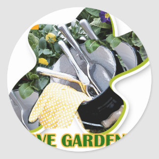 Gardening iGuide Flowers and Shrubs Round Stickers