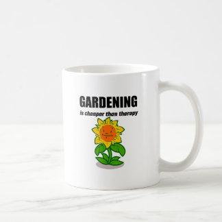 Gardening Is Cheaper Than Therapy Basic White Mug