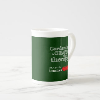 Gardening is Cheaper than Therapy Porcelain Mugs