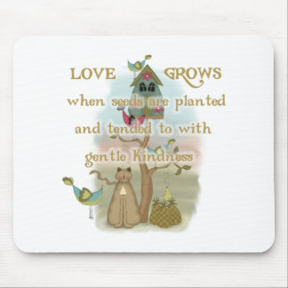 Gardening Love Grows Mouse Pad