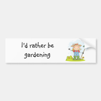 Gardening or Farming Girl Bumper Sticker