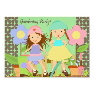 Gardening Party 5x7 Birthday Invitation