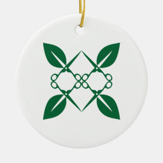 Gardening pattern christmas ornament