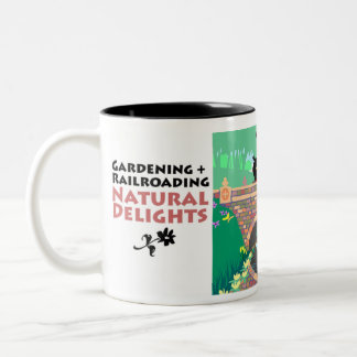 Gardening + Railroading Two-Tone Coffee Mug