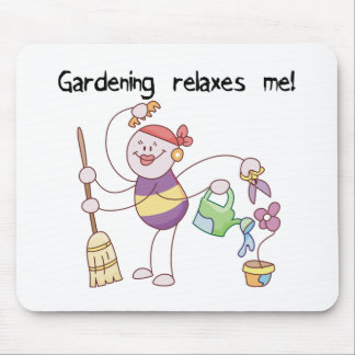 Gardening Relaxes Me Mouse Mats