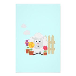 Gardening Sheep with flowers Z67e8 14 Cm X 21.5 Cm Flyer