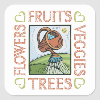 Gardening Square Sticker
