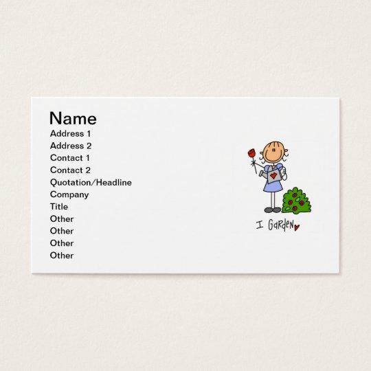 Gardening Stick Figure Business Card