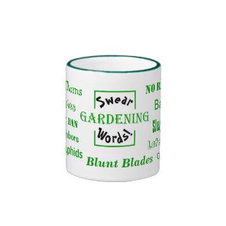 Gardening Swear Words! Gardener Gripes Ringer Mug